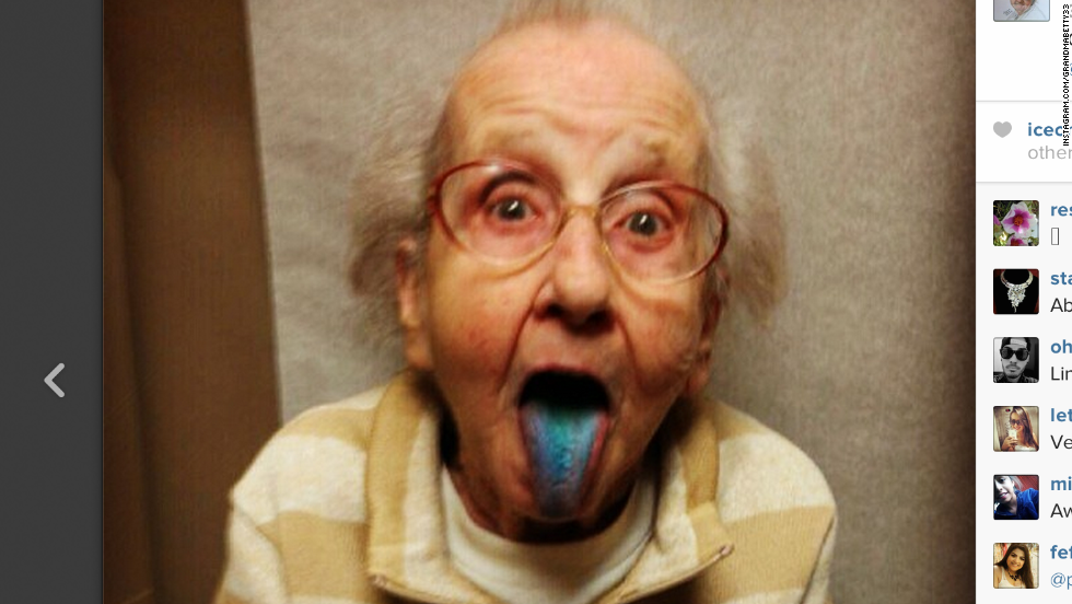 """Betty Jo Simpson, who became popular on Instagram  as """"Grandma Betty,"""" has passed away from lung cancer.  She was 80."""