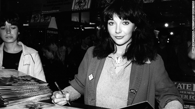 "Kate Bush signs copies of her album ""Never Forever"" in London on September 12, 1980."