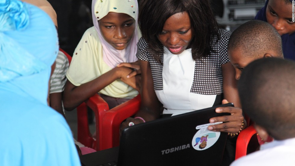 "Last summer, Agyare started an initiative called ""Tech Needs Girls,"" teaching computer skills to girls living in poor areas."