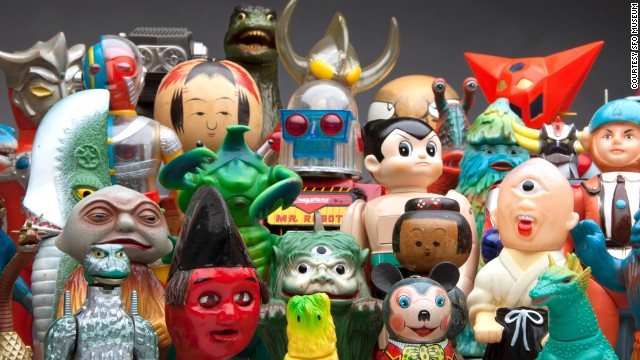 Japanese Toy Tops : From kokeishi to kaiju japanese toys in sfo museum