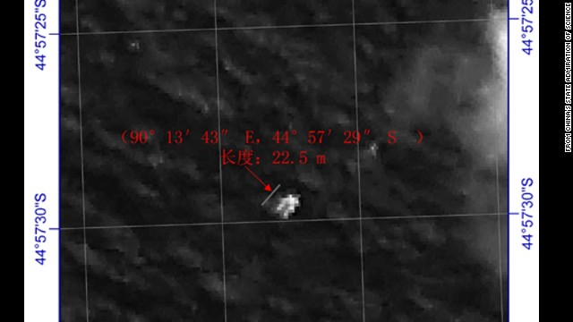 China releases image of floating object