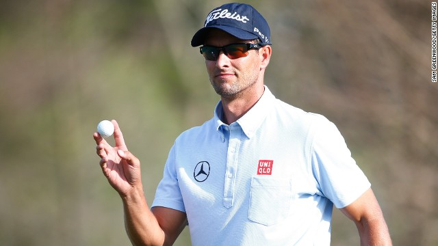 Adam Scott has eased into a seven-shot lead after 36 holes of the Arnold Palmer Invitational.