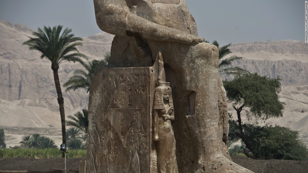 Pharaoh Amenhotep III, here shown with his wife Tiye alongside, is believed to have lived from 1390 to 1353 B.C.