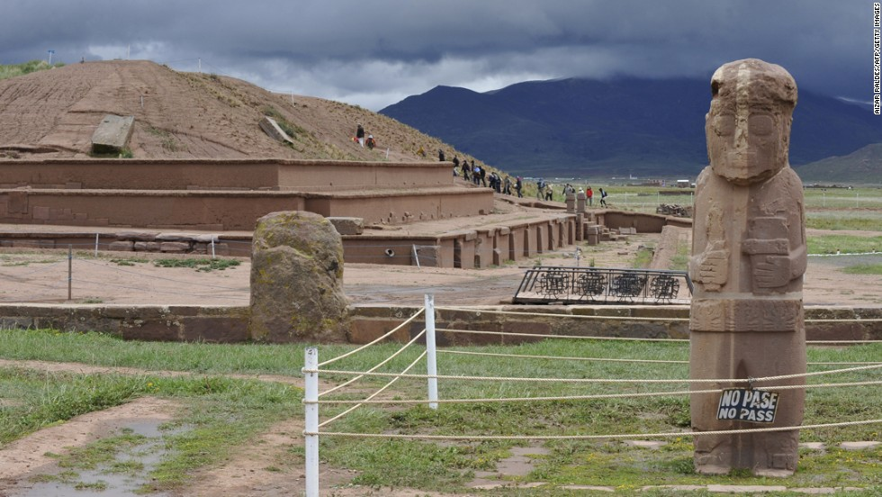 The pre-Hispanic Tiwanaku Empire flourished in what's now Bolivia until its collapse in the 12th century. The current theory is that climate change caused crops to fail.