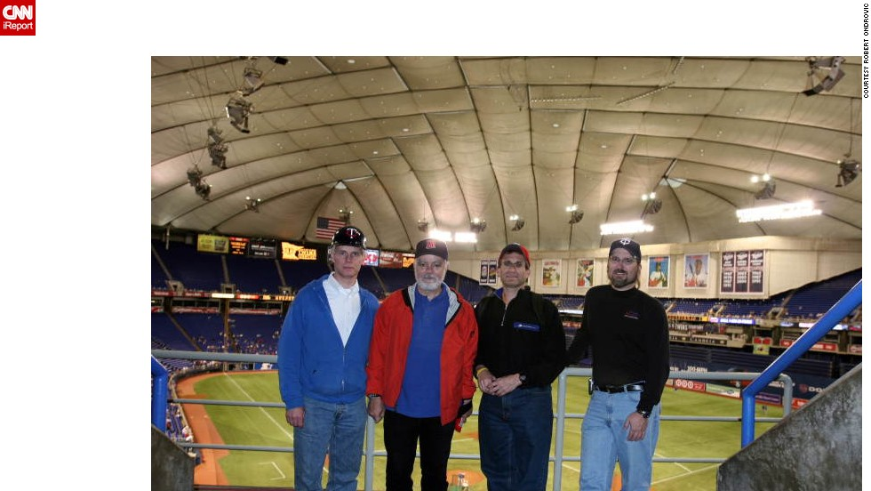 "<strong>Hubert H. Humphrey Metrodome (2005):</strong> Ondrovic says indoor ballparks go against what baseball is all about. ""If I wanted to watch baseball indoors, I would turn on my TV."" The Metrodome in Minneapolis opened in 1982 and was home to the American League's Minnesota Twins until 2009. The Minnesota Vikings football team played there through 2013, after which preparation began for demolition."