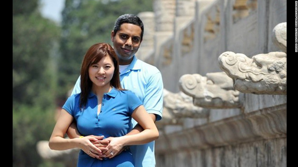 Muktesh Mukherjee and Xiaomo Bai had been vacationing in Vietnam and were on their way home to their two young sons in Beijing.