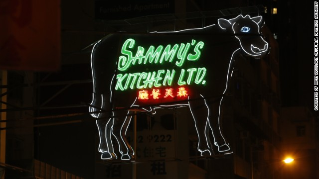Restaurant owners were told to remove their neon cow sign.