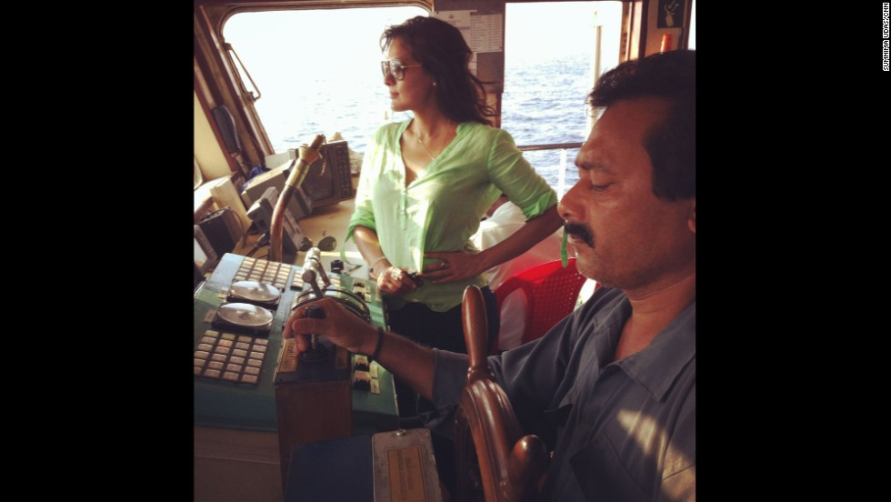 """""""That's me on board the Ranichang in the Andaman sea, where India launched its search efforts for the missing Malaysian Airlines Flight 370."""" By CNN's Sumnima Udas, March 16.  Follow Sumnima on Instagram at <a href=""""http://instagram.com/sumnimaudas"""" target=""""_blank"""">instagram.com/sumnimaudas</a>."""