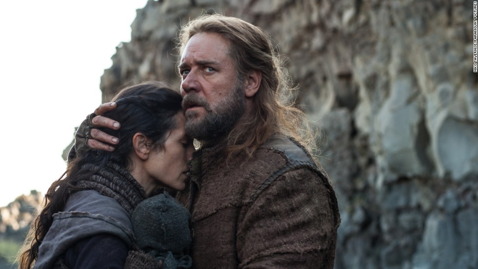 "Jennifer Connelly and Russell Crowe star in ""Noah,"" a $130 million biblical epic."
