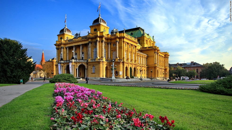 "<strong>Croatian National Theatre in Zagreb</strong><br />The theater opened to great ceremony in 1895 in Croatia's capital city. Designed by celebrated Viennese architectural firm Helmer and Fellner, the theater has hosted performers including Franz Liszt, Laurence Olivier and Vivien Leigh.<em><br /><a href=""http://www.hnk.hr/en"" target=""_blank"">Croatian National Theatre in Zagreb</em></a><em>, Trg marsala Tita 15, Zagreb; +385 14 888 418</em>"