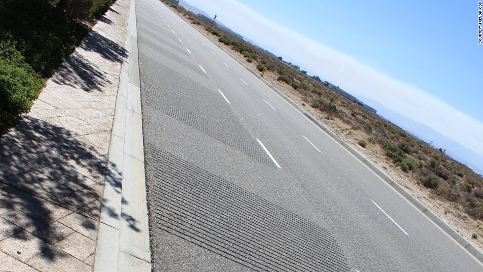 "When cars drive over a series of grooves gouged into a stretch of the westbound Avenue G in Lancaster, California, the ""William Tell Overture"" -- also known as the ""Lone Ranger"" theme -- starts to play. <a href=""http://www.sonicwonders.org/singing-roads/"" target=""_blank"">Hear it here</a>."