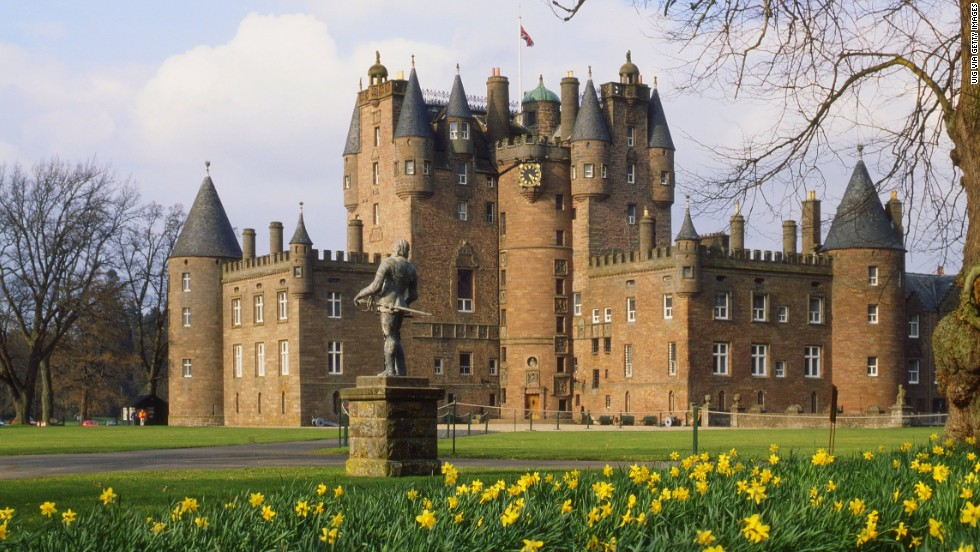 "Glamis Castle is the setting for Shakespeare's ""Macbeth,"" and it's the childhood home of Queen Elizabeth, the Queen Mother.<br />"
