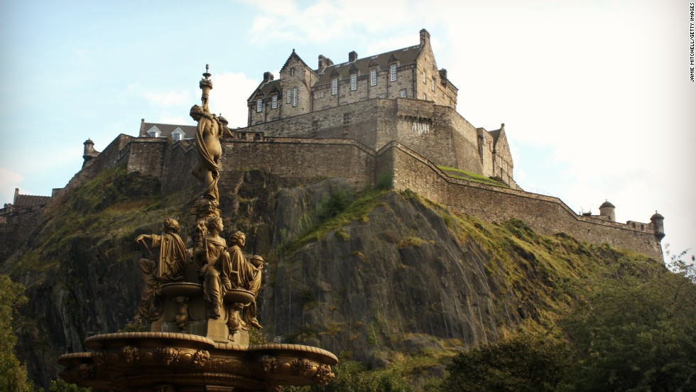 Edinburgh Castle may be the most famous and most visited castle in Scotland, and it's right in the center of the capital city of Edinburgh.