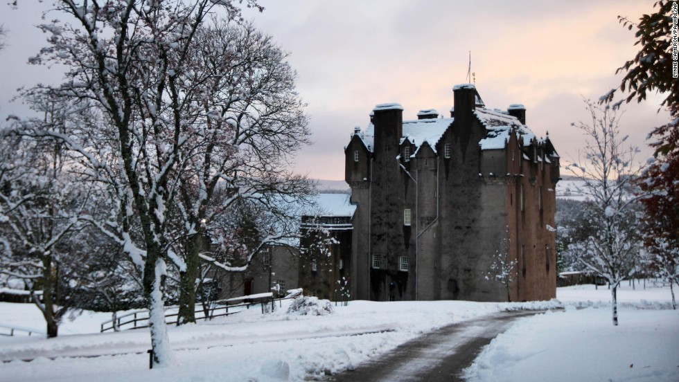 Crathes Castle dates to the 16th century and has ties to Scottish warrior-king Robert the Bruce. it also has its share of ghost stories. <br />