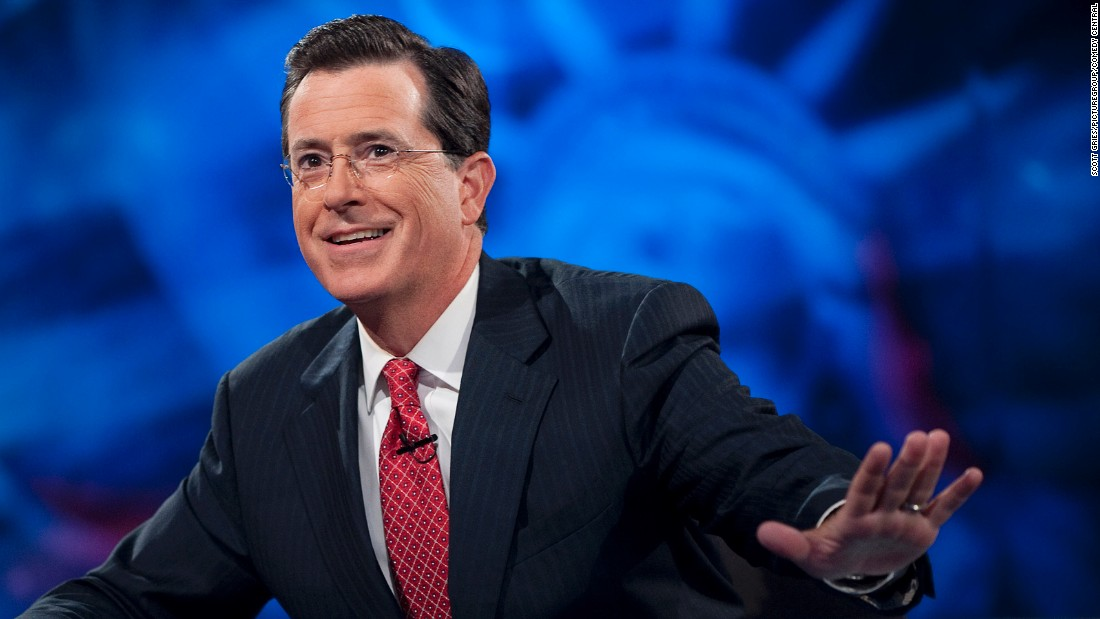 "Stephen Colbert, a former ""Daily Show"" correspondent, took opinionated cable news network hosts' me-first, confrontational style and parodied it mercilessly on ""The Colbert Report."" He replaced David Letterman on ""The Late Show"" in September."