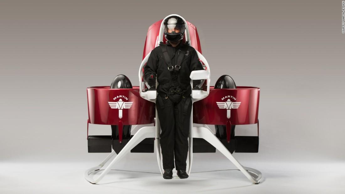 Este es el Martin Jetpack, una idea original del inventor Glenn Martin de Nueva Zelanda.
