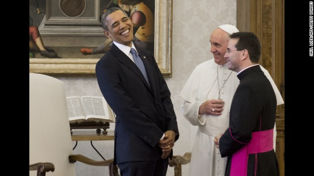 The smiles between President Obama and Pope Francis were seen as a sign that they liked one another.