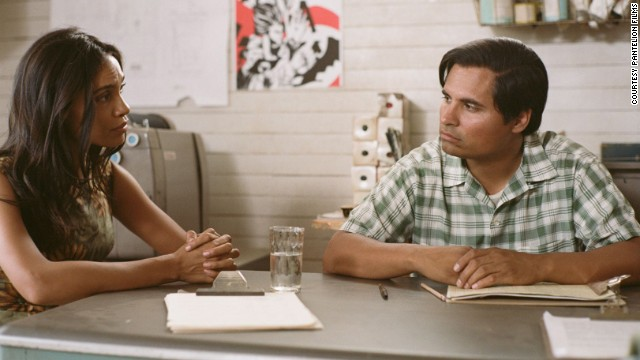Rosario Dawson as Dolores Huerta in the film, who is still a community activist and a political organizer.