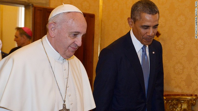 Pope Francis and President Barack Obama at the Vatican Thursday, March 27, 2014.