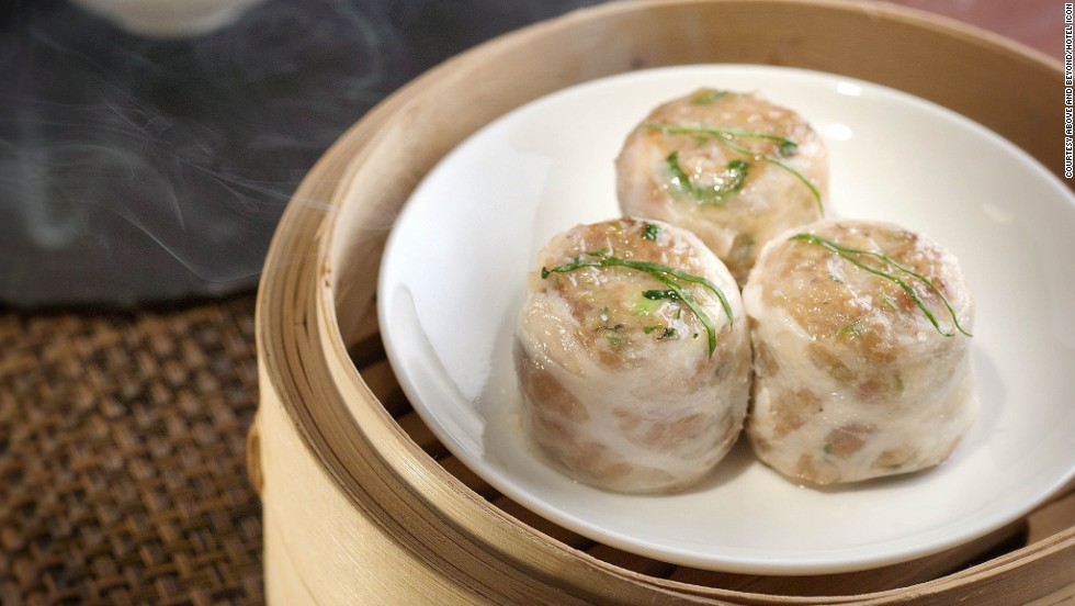This parcel of beef, water chestnut and herbs wrapped in caul fat is available at Hong Kong restaurant Above and Beyond, but has to be requested in advance when making a reservation.
