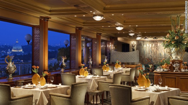 Diners at La Pergola can enjoy panoramic views of Rome.