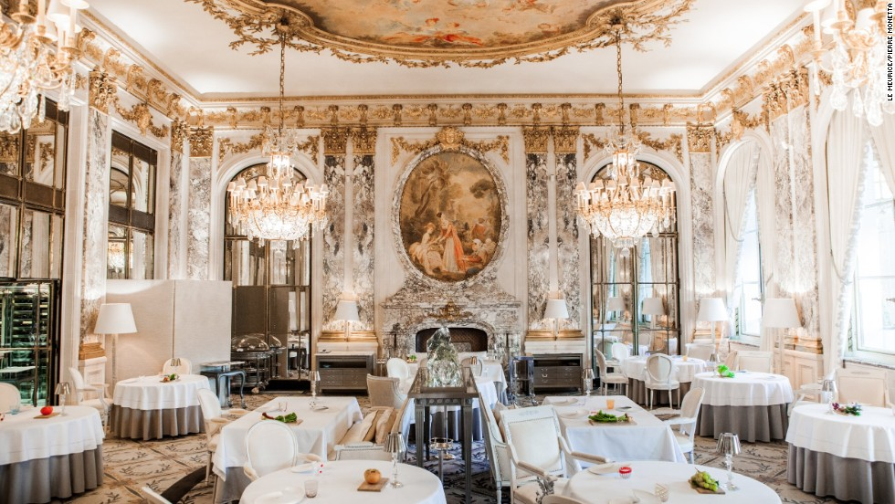 Haute cuisin king  Alain Ducasse holds court in the Versailles-style grandeur of Paris's Le Meurice.