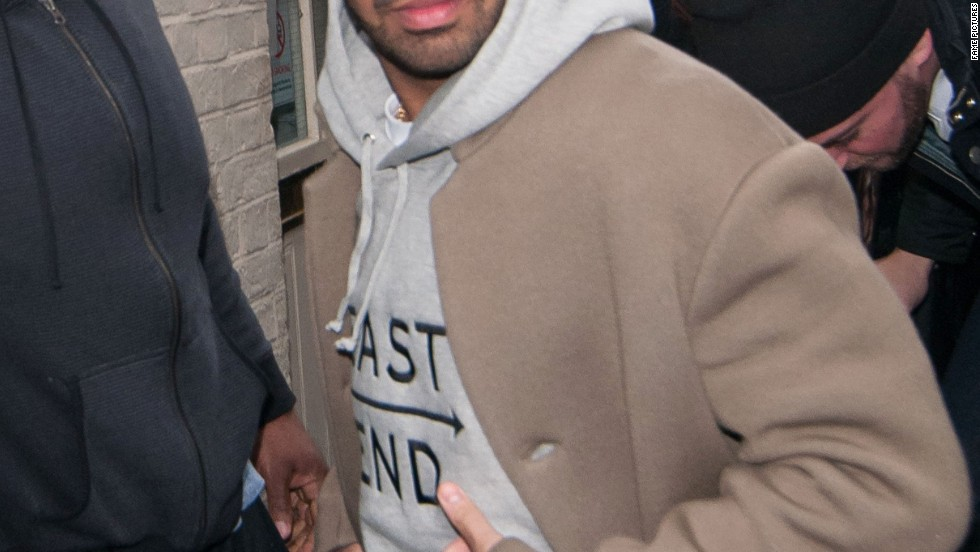 Drake greets his fans in London on March 27.