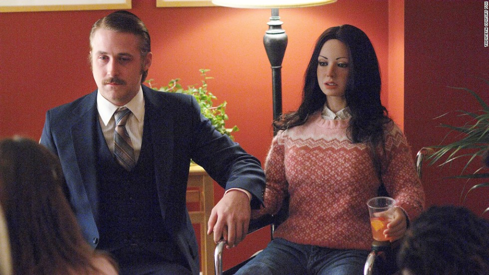 "Ryan Gosling has an unusual love affair in the 2007 movie ""Lars and the Real Girl."""