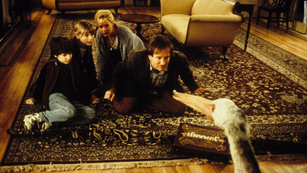 "The 1995 film ""Jumanji,"" about a board game that comes to life, spun off an animated TV series."