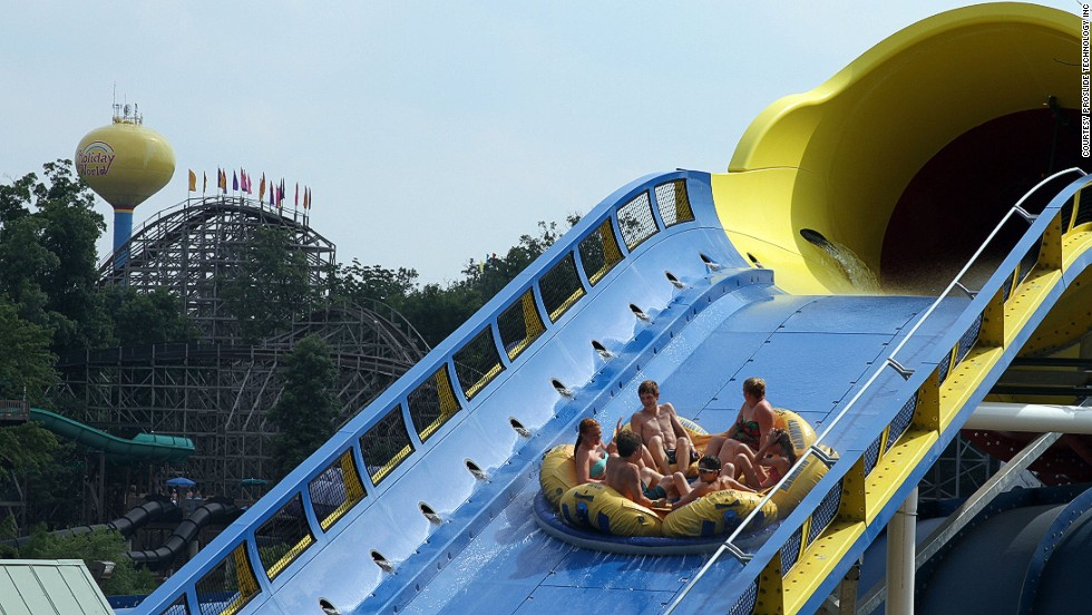 As the world's first six-person water coaster, Mammoth at Holiday World & Splashin' Safari in Santa Claus, Indiana,<strong> </strong>covers more than three acres and is just less than a third of a mile long.