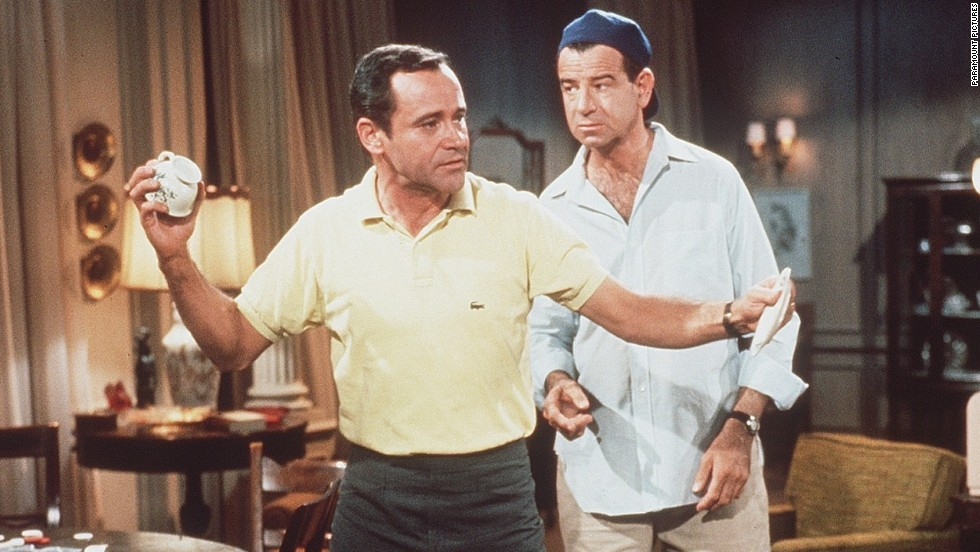 "Before there was the TV series, there was the 1968 film ""The Odd Couple"" starring Jack Lemmon and Walter Matthau, right. Trivia alert: The film was based on a hit play."