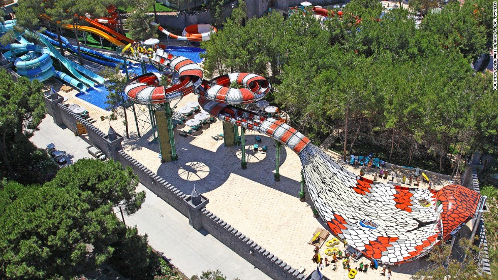 King Cobra is a game-changing water slide found at Maxx Royal Belek Golf & Spa in Belek, Turkey. The double-tube ride is interactive because passengers race each other. It also incorporates special effects, such as hissing sounds.