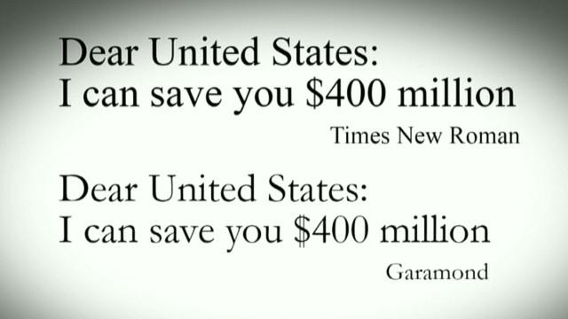 Simple font idea could save $234 million