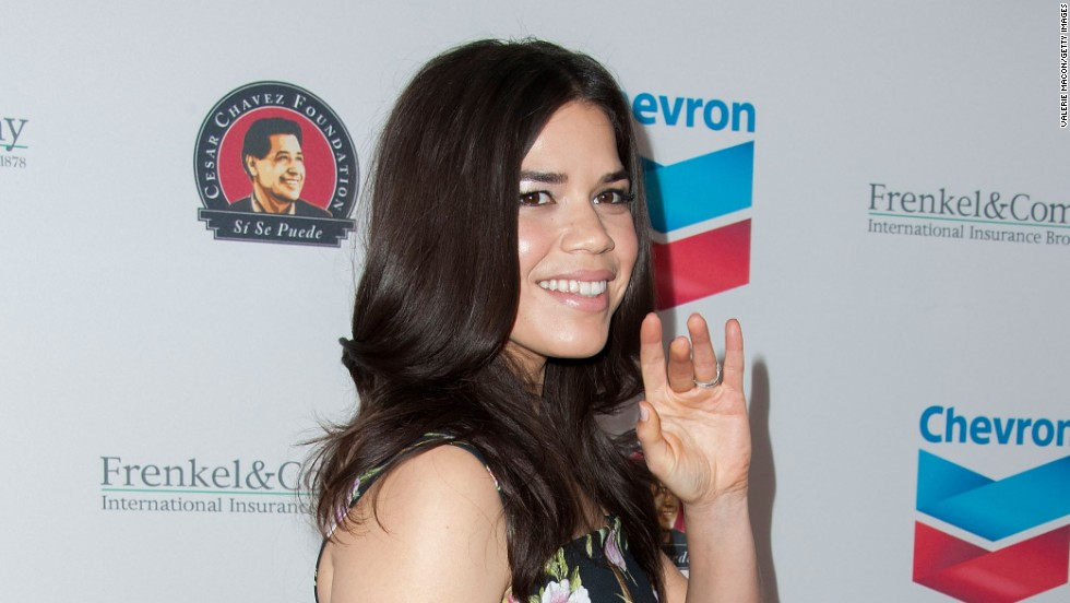 America Ferrera arrives at The Cesar Chavez Foundation's 2014 Legacy Awards Dinner on March 27 in Los Angeles, California.