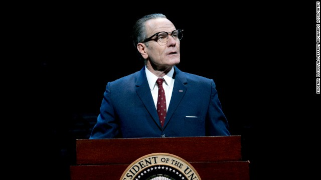 "Bryan Cranston stars as President Lyndon B. Johnson in the Broadway play ""All the Way."""
