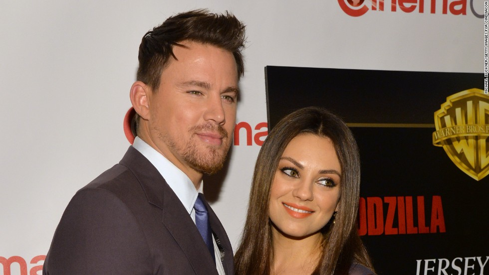 Channing Tatum and Mila Kunis step out at CinemaCon on March 27 in Las Vegas, Nevada.