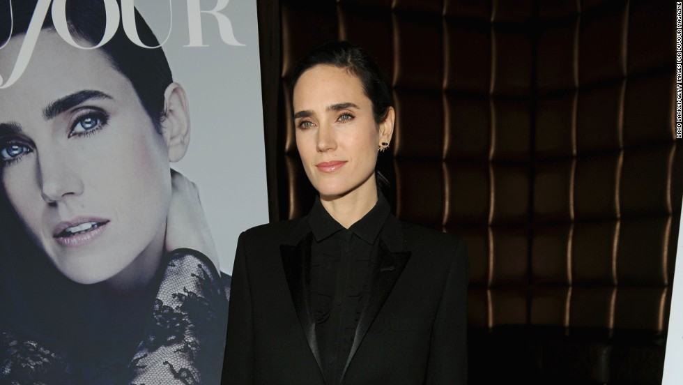Jennifer Connelly celebrates getting the cover of DuJour Magazine in New York City on March 27.