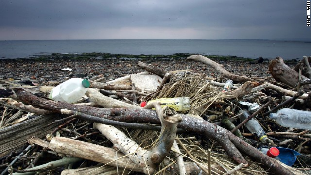 More than 220,000 items of trash were plucked from Britain's beaches during an annual cleanup in 2013.