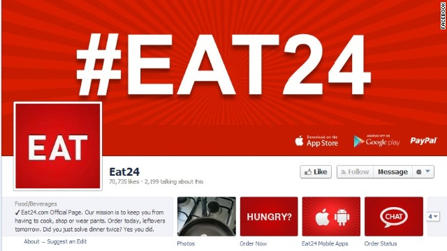 "Eat24 has more than 70,000 ""likes"" on Facebook, but the food app says it's leaving the social network."