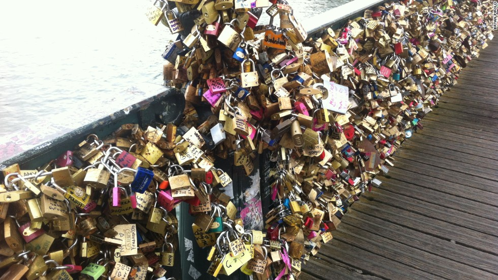 The No Love Locks campaign wants the padlocks removed and placed elsewhere in the city.
