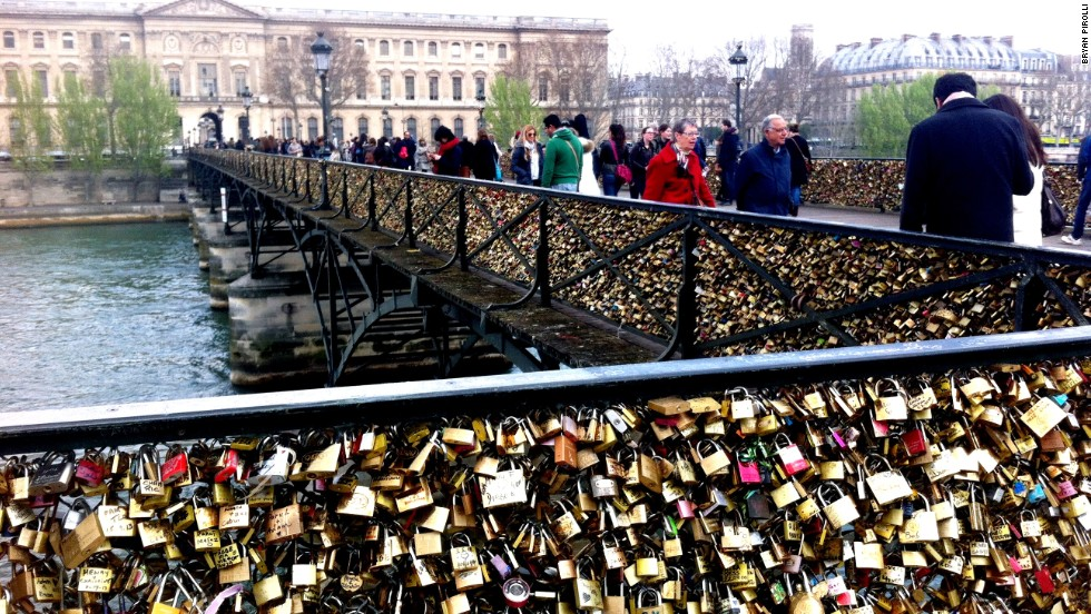 """I understand that this is a modern expression of love and it's cool, but history should not be compromised,"" says Anselmo of No Love Locks. ""It's almost painful to watch this vandalism."""