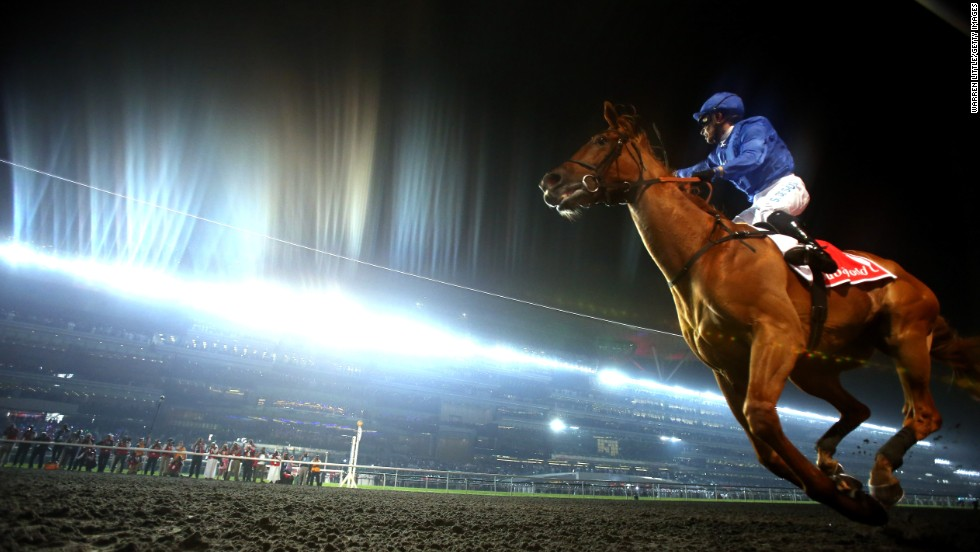 Brazilian jockey Silvestre De Sousa rode African Story to win the race at Meydan in 2014.