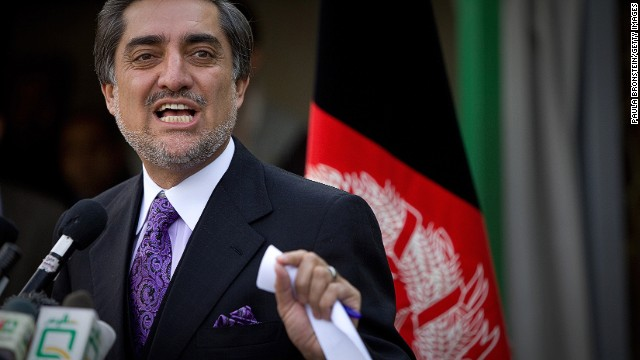 "Abdullah Abdullah (shown in 2009) tweeted about the runoff election: ""Fraud is taking place in every corner of the country."""