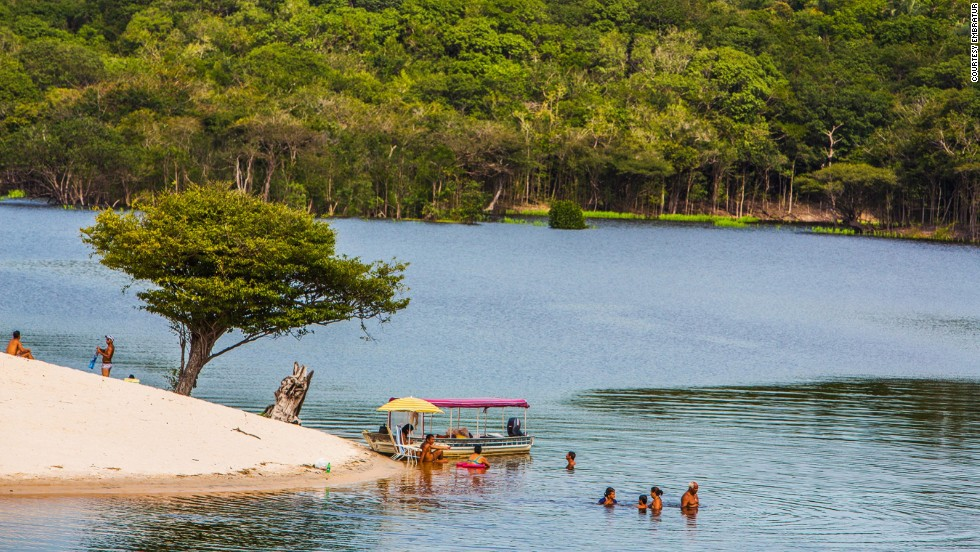 """With a little luck, you can spot jaguars, pink dolphins and giant otters at the Amazon rainforest, the world's largest and most biodiverse natural reserve. Just bring strong mosquito repellant.<em><br />More info: <a href=""""http://visitbrasil.com/visitbrasil/opencms/portalembratur/en/ecoturismo-em-manaus.html"""" target=""""_blank""""><em></em>www.visitbrasil.com</a></em>"""