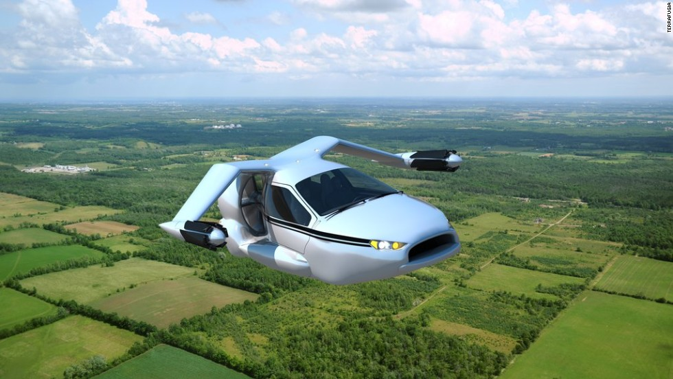 Terrafugia's TF-X is designed as a four-seat, plug-in hybrid electric flying car that's capable of performing fly-by-wire vertical take offs and landings.