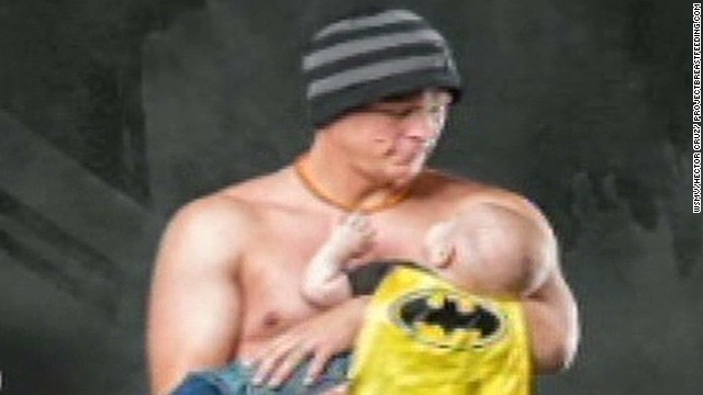 Dad's breast-feeding campaign goes viral