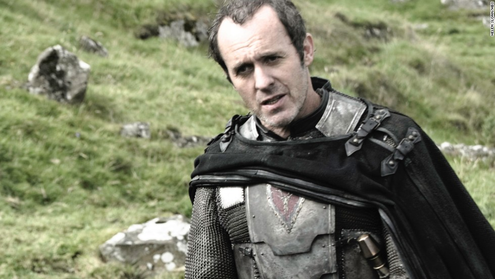 "<strong>Stannis Baratheon (Stephen Dillane): </strong>As a brother to the late King Robert Baratheon -- who held the throne before his son-in-name-only Joffrey took over -- Stannis Baratheon knows he has a rightful claim to the crown. He's gone into battle to seal his position and regularly turns to the magic of creepy ""Red Priestess"" Melisandre (Carice van Houten) for help."