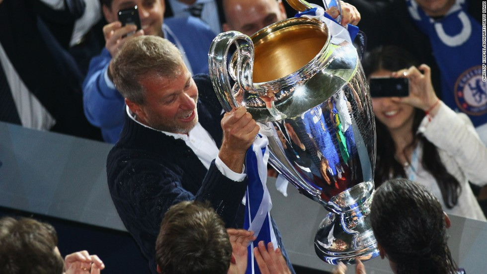 Roman Abramovich took control of Chelsea in 2003 and by 2005, with many millions spent, the club had won the English Premier League, while it claimed the Champions League in 2012 with victory over Bayern Munich.