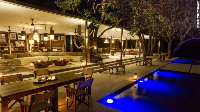 Chinzombo's six villas all have private dining areas, lounges, libraries and tree-shaded pools.
