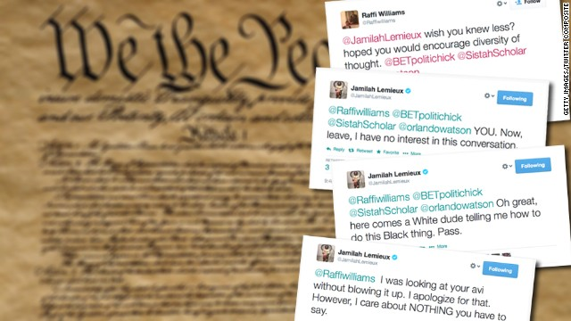 A Twitter debate exploded recently between an editor from Ebony magazine and a Republican spokesman.